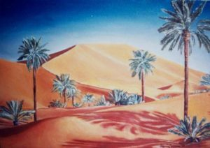 09.Il deserto, olio su tela, 25x40, 1989. Opera privata