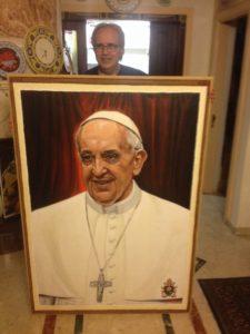 Giuseppe Afrune: Opere Arte Scara - Ritratto di Papa Francesco