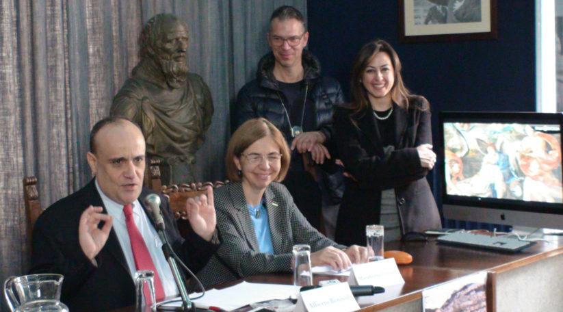 Da Sx: il Ministro Alberto Bonisoli, la Senatrice Margherita Corrado, la Dott.ssa Eleonora Cafiero