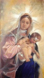 Giuseppe Afrune: Opere Arte Scara - Vergine con Gesù Bambino