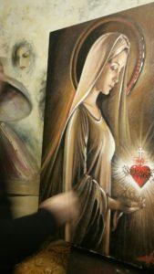 Giuseppe Afrune: Opere Arte Scara - Ritratto della Madonna